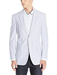 Palm Beach Men's Brock Navy-Seersucker Suit Separate Jacket