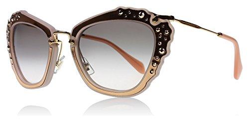 Miu Miu Women's Embellished Sunglasses, Matte Pink/Grey Pink, One Size