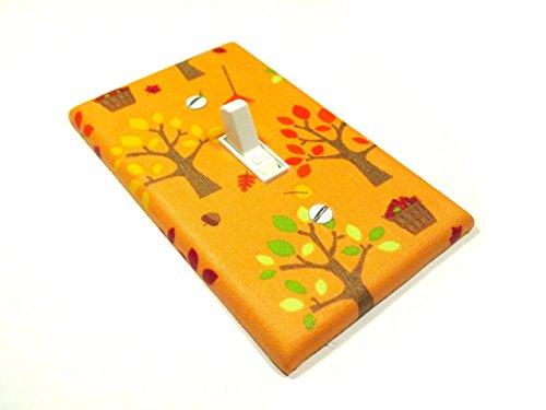 Apple Trees on Orange Light Switch Cover