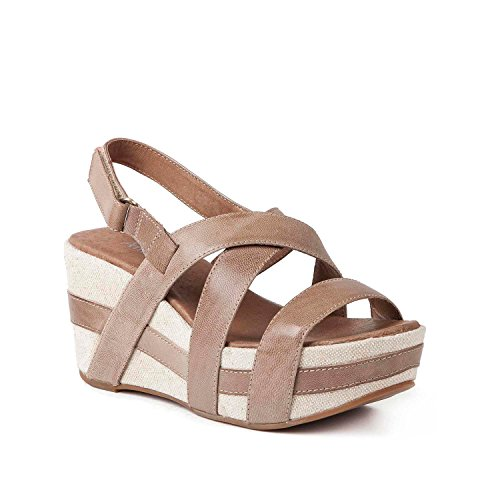 Antelope Womens 819 Leather Crossed Classics Sandals Taupe DSyFf