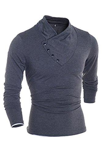 Autumn and winter men's thermal underwear sets(Dark Grey) - 4