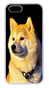 IPhone 5/5S Case Shiba Inu HAC1014442 PC Hard Plastic Case for iPhone 5/5S Whtie