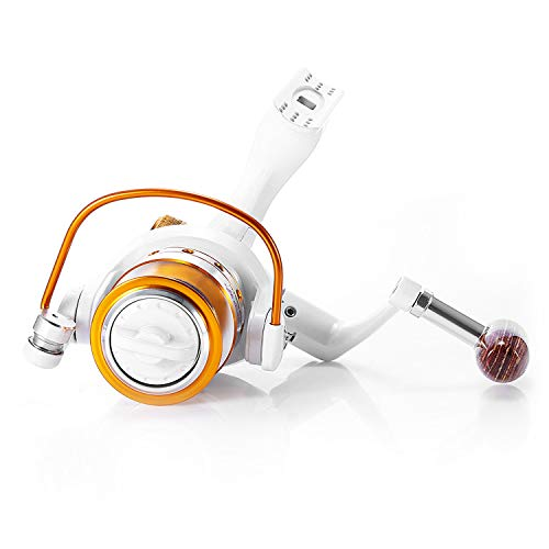 500-9000Series Full Metal Spinning Fishing Reel 12+1Bb 5.5:1/5.2:1 Saltwater Spinning Reel Boat Rock Fishing Wheel,White,3000 Series