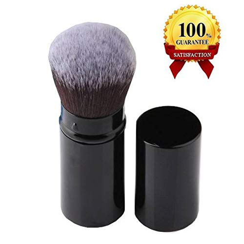 AUSKY Pro Cosmetic Beauty Makeup Minerals Powder Brush Travel Retractable Kabuki Brush,Foudation Blush Brush Cosmetic Tool (Kabuki Brush)
