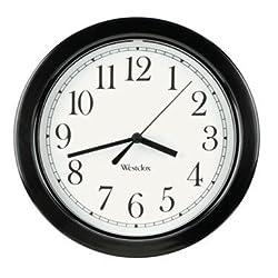 CLOCK WALL SIMPLIC BLK