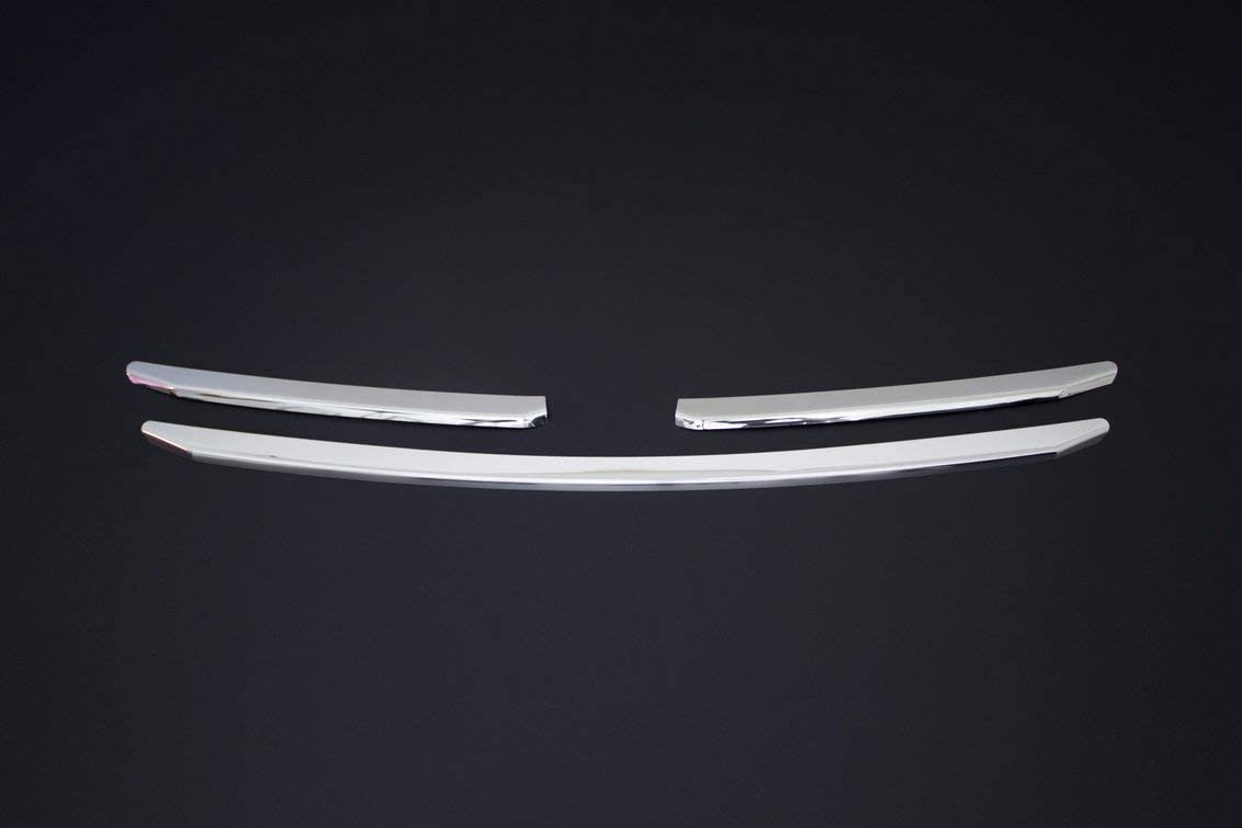 Generic Abdeckung Für Kühlergrill Für Fiat Ducato Ab Baujahr 2014 Edelstahl Verchromt 3 Stück Auto