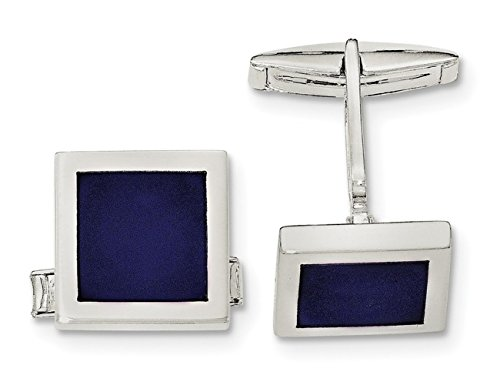 - Sterling Silver Lapis Square Cuff Links
