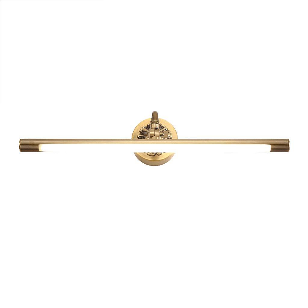 Met Love Kupfer Spiegel Scheinwerfer Led Badezimmer Europäischen Luxus Spiegel Schrank Lampe Badezimmer Make-Up Lampen Warmes weißes licht (Kapazität   43.5cm 8W)