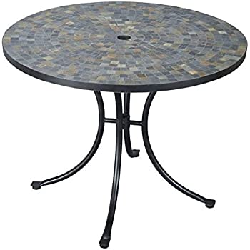 Amazing Home Styles 5601 30 Stone Harbor Slate Tile Top Outdoor Dining Table