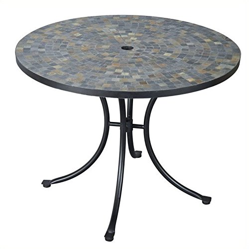 Home Styles 5601-30 Stone Harbor Slate Tile Top Outdoor Dining Table (Tile Stone Outdoor)