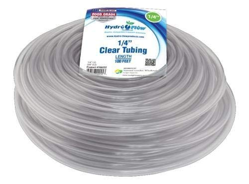 Hydro Flow 100-Feet Roll Vinyl Tubing, 1/4-Inch Internal Diameter and 3/8-Inch Outer Diameter, Clear by Hydro Flow