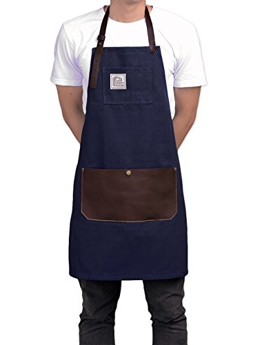 Chef Leather Apron Unisex for Kitchen Lawn Cleaning and Laboratory Multi-Use