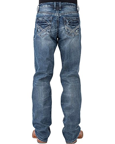 Tin Haul Men's Regular Joe Fit Medium Wash Jeans Boot Cut Indigo 29 REG - Reg Fit Jeans