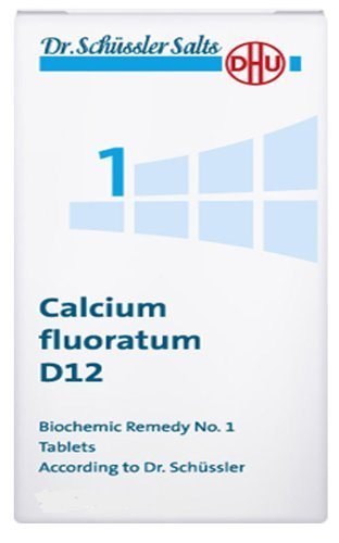 Dr. Schuessler salts 1 Calcium fluoratum D12 Connective tissue Ligaments Tendons 200 tabs by DHU For Sale