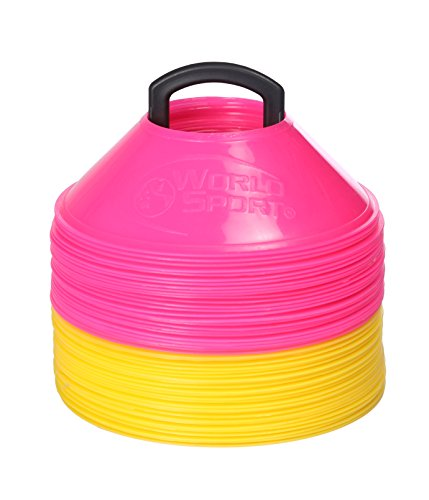 World Sport MINI Disc Cones 25 Pink / 25 Yellow (50 Pack)