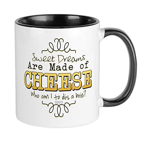 CafePress Dreams Made Of Cheese Mugs Unique Coffee Mug, Coffee Cup ()