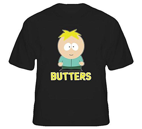 Butters South Park Comedy TV Show T Shirt L Black