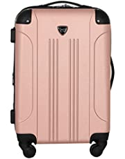 """Travelers Club 20"""" Chicago Expandable Spinner Carry-On Luggage, Rose Gold"""
