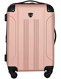 "20"" Chicago Expandable Spinner Carry-On Luggage, Rose Gold"