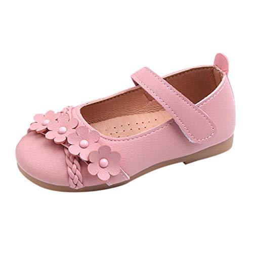 Mysky Infant Toddler Kids Baby Girls Popular Lovely Flower Criss Cross Woven Belt Comfy Princess Shoes Sandals Pink ()