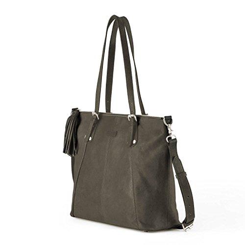 Ellington Handbags Eva Tote - With Crossbody Strap Dark Brown