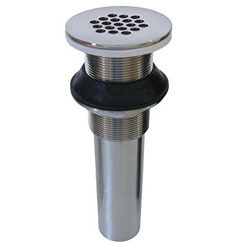 Novatto Vessel Sink Strainer Drain, Brushed Nickel - Brushed Nickel Grid