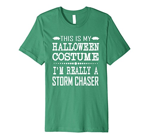 Jersey Chaser Costume (Mens Storm Chaser Halloween Costume Premium Shirt Large Kelly Green)