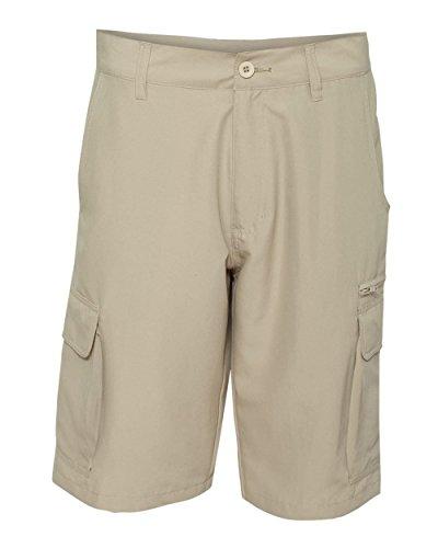 Burnside Men's 9803 Lightweight Microfiber Cargo Shorts (36, Stone)