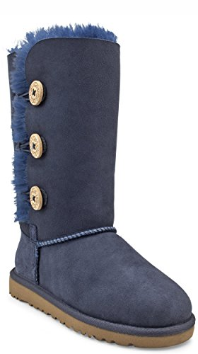 Ugg Australia Bailey Button Triplet Navy Kids Boots Size 30 EU
