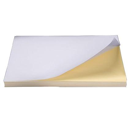 100 hojas de papel autoadhesivas para impresora láser de inyección ...