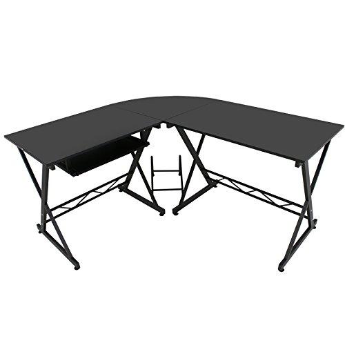 Zeny L-Shape Computer Desk PC Laptop Table Workstation Co...