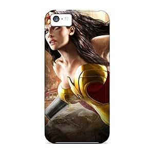 New HsN7349vIgE Wonder Woman I4 Skin Case Cover Shatterproof Case For Iphone 5c