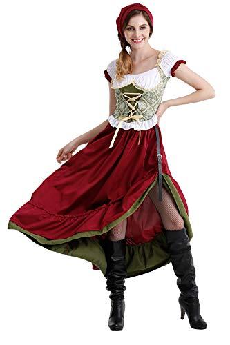 LOMON Women's 2 Piece Gretchen Costume German