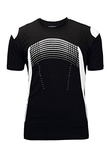 ZITY Sportswear Men's 100% Polyester Moisture-Wicking Short-Sleeve T-Shirt Black (Cool Wicking T-shirt)