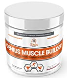 Genius Muscle Builder – Best Natural Anabolic Growth Optimizer for Men & Women | True Weight Gainer Workout Supplement for Steel Physique | Clear Plateaus & Gain Mass in 7 Days with HMB