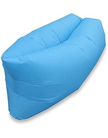 Escomdp Al aire libre O cubierta Aire Durmiente Sofá Cama de aire Silla de Aire Portátil
