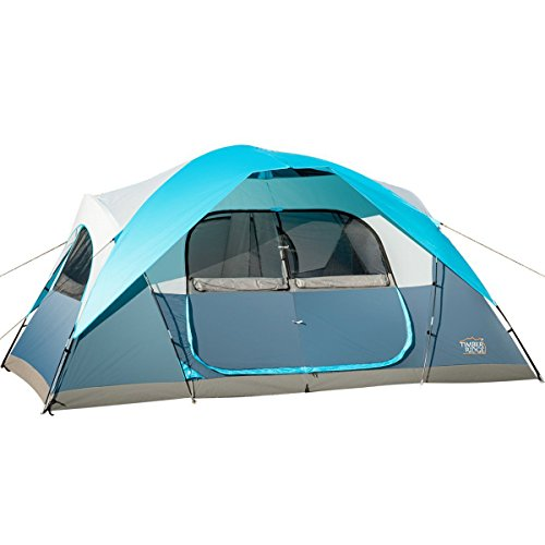 Timber Ridge Large Family Tent for Camping with Carry Bag, 2 Rooms
