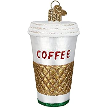 Old World Christmas Coffee To Go Glass Blown Ornament