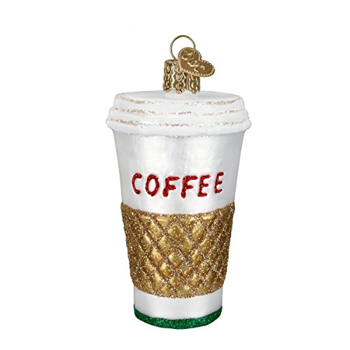 Old World Christmas Ornaments: Coffee To Go Glass Blown Ornaments for Christmas Tree (32171) ()