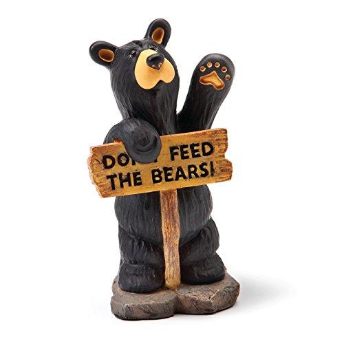 DEMDACO Don't Feed The Bears Mini Black Bear 3 x 2 Hand-cast Resin Figurine Sculpture