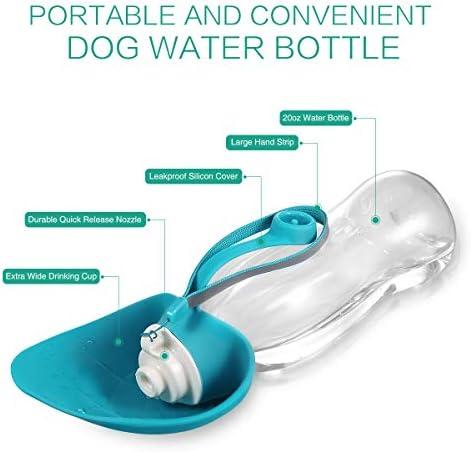 ORIA Botella de agua para perro, botella portátil de agua para mascotas, botella de agua para mascotas, 20 onzas con dispensador de bolsas de residuos para perros, botellas de agua para viajes, caminar 7