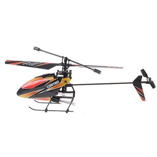 Wl Products - 4CH 2.4GHz Mini Radio Single Propeller RC Helicopter Gyro V911 RTF Red and Black - This 4CH 2.4GHz mini RC helicopter with pioneering single propeller, built-in Gyro, extremely light weight, strong resistance of impact, steady and agil]()