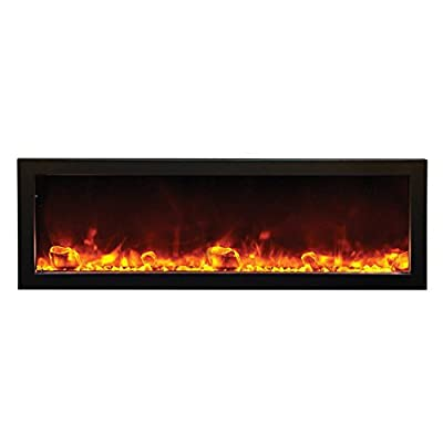 Amantii Outdoor Panorama Series Deep Electric Fireplace, 50 Inch
