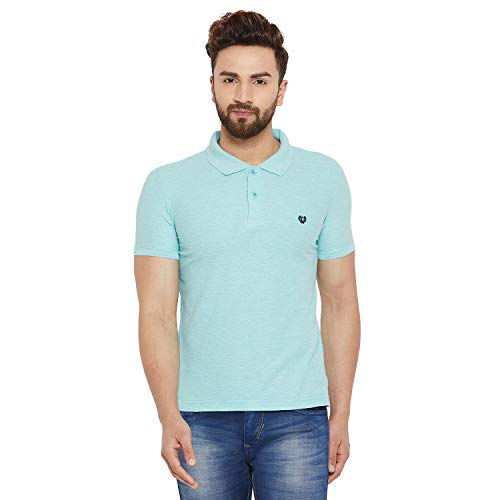 Duke Men Solid Polo Neck T Shirt