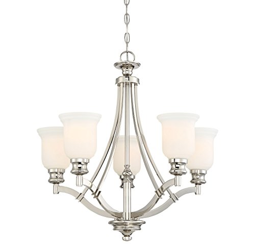 Minka Lavery 3295-613 Audreys Point 5-Light Chandelier in Polished Nickel