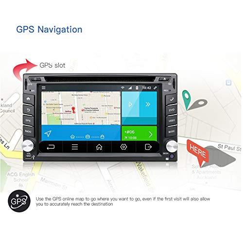 Double Din Dash GPS with Rear Camera,YUNTX 2GB Radio Multi-Touch Screen,Car
