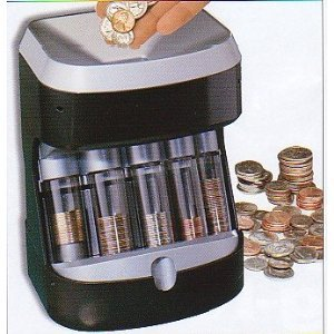 Motorized coin sorter money bank coin sorters and counters office products - Coin sorting piggy bank ...
