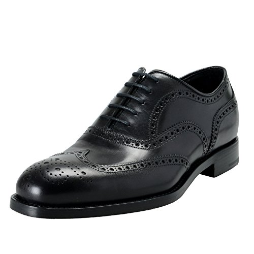 Prada Mens Black Leather Wing Tip Oxfords Shoes US 9 IT 8 EU 42 5kHAJLO