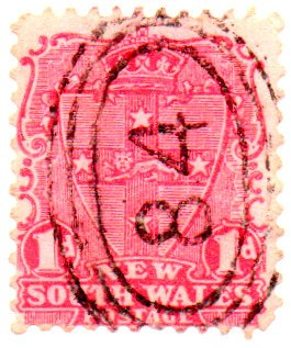 New South Wales Postage Stamp Single 1897 Seal Issue 1 Pence Scott #98