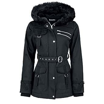 Amazon.com: Dressation Womens Faux Fur Hooded Black Winter